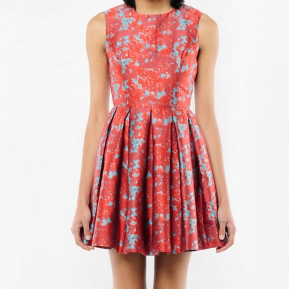 ba2890264b3 BB Dakota Dresses   Skirts - BB Dakota Halsey Red and Mint Pleated Midi  Dress